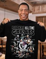 Oakland Raiders All Time Greats Coach Players Signatures t shirt hoodie sweater