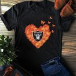 Oakland Raiders Butterfly Heart For Raiders Fan t shirt hoodie sweater