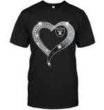 Oakland Raiders Glitter Diamond Heart White t shirt hoodie sweater