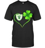 Oakland Raiders Irish Saint Patrick Clover Love t shirt hoodie sweater