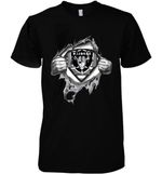 Superman Oakland Raiders Dad Ripped t shirt hoodie sweater
