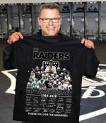 Oakland raiders the raiders 60th anniversary all players signature thank you for the memories for fan t shirt hoodie sweater