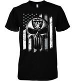 Oakland Raiders Punisher Skull Us Flag For Fan t shirt hoodie sweater