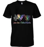 Peace Love Oakland Raiders Lgbt Pride Supporter t shirt hoodie sweater