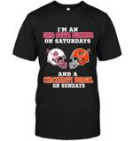 Im Ohio State Buckeye On Saturdays And Cincinnati Bengal On Sundays t shirt hoodie sweater