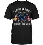 I Bleed Utep Miners Dark Blue & Orange On Saturday Sunday I Bleed Houston Texans Navy Deep Steel Blue & Battle Redo t shirt hoodie sweater