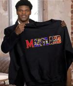 Maryland Sport Teams Baltimore Orioles Baltimore Ravens Maryland Terrapins t shirt hoodie sweater