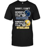 Sorry I Cant Saturdays Are For Pittsburgh Panthers Sundays Are For Pittsburgh Steelers t shirt hoodie sweater
