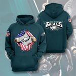 Philadelphia Eagles American Ripped t shirt hoodie sweater