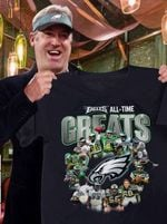 Philadelphia Eagles All Time Greats Players Signatures t shirt hoodie sweater
