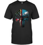 Philadelphia Eagles Skull American Flag t shirt hoodie sweater