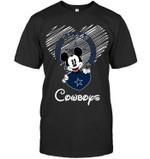 Mickey Loves Dallas Cowboys Fan White t shirt hoodie sweater