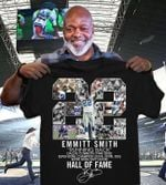 Emmitt Smith Dallas Cowboys 22 Hall Of Fame Signd t shirt hoodie sweater