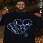 Dallas cowboys stethoscope hearbeat for t shirt hoodie sweater