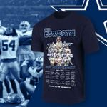 The dallas cowboys 60th anniversary coach and best players signed for fan t shirt hoodie sweater