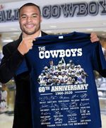 The dallas cowboys 60th anniversary all legend players signed for fan t shirt hoodie sweater