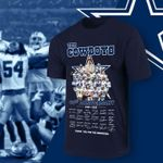 The dallas cowboys coach and legend players signed 60th anniversary for fan t shirt hoodie sweater