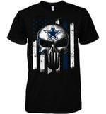 Dallas Cowboys Punisher Skull Us Flag For Fan t shirt hoodie sweater