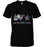 Peace Love Dallas Cowboys Lgbt Pride Supporter t shirt hoodie sweater