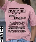 Im proud wife of a crazy husband he was born in september t shirt hoodie sweater