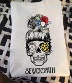 Skull girl Sewing Sewciopath t shirt hoodie sweater