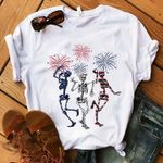 Skeleton independence day firework for lovers t shirt hoodie sweater