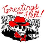 Cowboys skull greetings from hell see you soon t shirt hoodie sweater