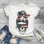 America woman skull independence day for lovers t shirt hoodie sweater