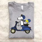 Snoopy and woodstock on motorbike for fan t shirt hoodie sweater