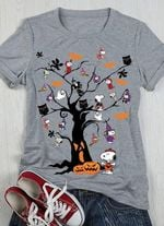 Snoopy halloween tree witch vampire pumpkin for fan t shirt hoodie sweater