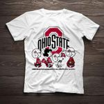 Snoopy and friends wear ohio state buckeyes uniform for fan t shirt hoodie sweater