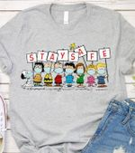 Snoopy Stay Safe t shirt hoodie sweater