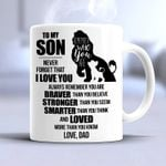 lion to my son never forget that i love you always remember you are braver than you believe mug t shirt hoodie sweater