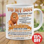 lion to my son never forget i love you i hope you believe in yourself mug t shirt hoodie sweater