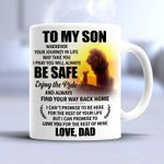 To my son wherever your journey in life may take you i pray you will always be safe love dad lion mug t shirt hoodie sweater