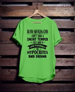 South african girl i dont have short temper i just have low tolerance for hypocrites and drama t shirt hoodie sweater