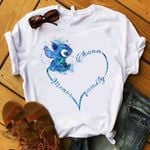 stitch ohana means family heart shaped t shirt hoodie sweater