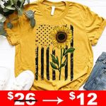 usa flag sunflower t shirt hoodie sweater