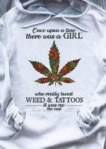 Once upon a time there was a girl who really loved tattoos it was me the end t shirt hoodie sweater