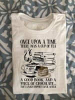 once upon a time there was a cup of tea a good book and a piece of chocolate for tea lover t shirt hoodie sweater