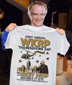 First annual wkrp thanksgiving day turkey drop t shirt hoodie sweater