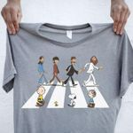 The beatles see snoopy and friends abbey the road funny for fan t shirt hoodie sweater