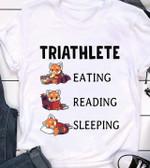 triathlete eating reading sleeping funny cute fox hobbies t shirt hoodie sweater