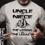 Uncle and niece the legend and the legacy t shirt hoodie sweater