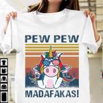 Unicorn pew pew madafakas us glasses retro for lovers t shirt hoodie sweater