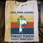 Unicorn rock paper scissors throat i win vintage for lovers t shirt hoodie sweater