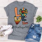 Love vintage 1965 hippie flower flag t shirt hoodie sweater