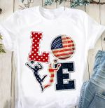 Love volleyball us flag for lovers t shirt hoodie sweater