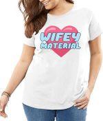 Wifey material heart shape love wife t shirt hoodie sweater