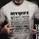 my wife is my best friend greatest support my biggest comfort my strongest motivation t shirt hoodie sweater